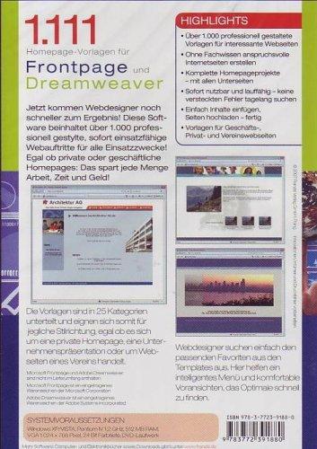 1.111 Homepage-Vorlagen für Frontpage und Dreamweaver