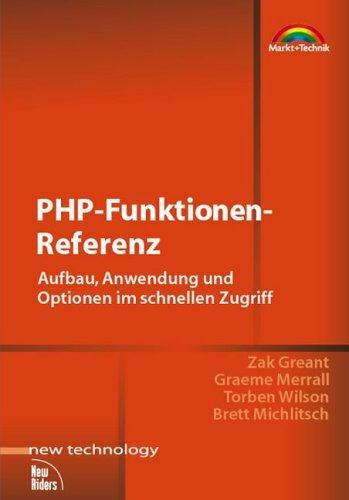 PHP-Funktionen-Referenz . Aufbau, Anwendung und Optionen im