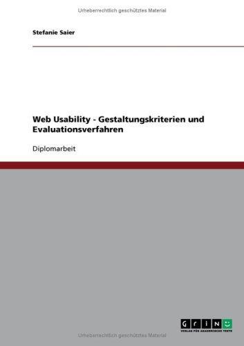 Web Usability - Gestaltungskriterien und Evaluationsverfahren