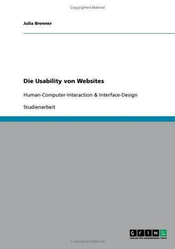 Die Usability von Websites: Human-Computer-Interaction &