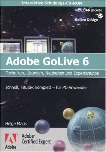 Schulungs-CD GoLive 6 - PC-Version - Techniken, Übungen,