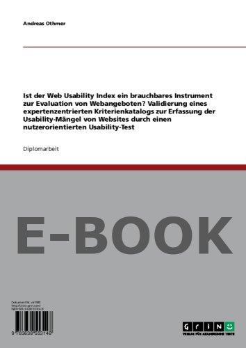 Ist der Web Usability Index ein brauchbares Instrument zur