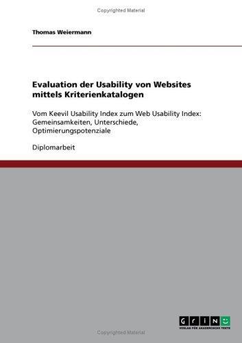 Evaluation der Usability von Websites mittels