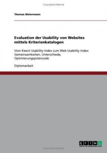 Evaluation der Usability von Websites mittels