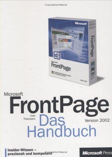 Microsoft Frontpage 2002. Das Handbuch.