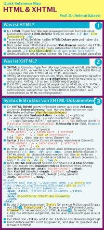 HTML und XHTML. Quick Reference Map.
