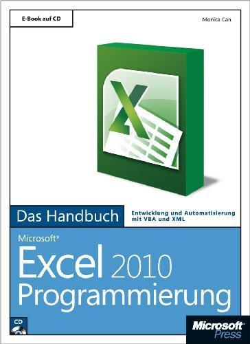 Microsoft Excel 2010 Programmierung - Das Handbuch: Entwicklung